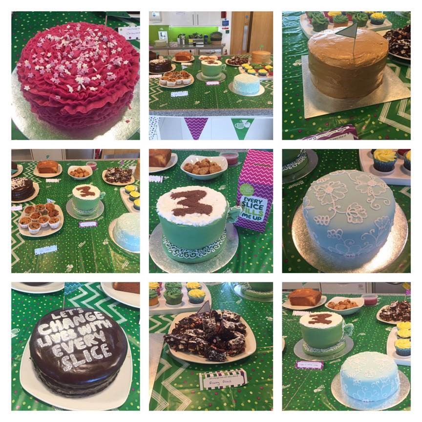 Commuity at LEO Pharma Macmillan coffee morning cakes